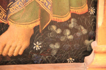 Fragment of painting of St. Mary with saints.